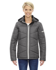 Carbn Heath 78698 Ash City - North End Sport Blue Avant Tech Mélange Insulated Jacket with Heat Reflect Technology