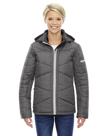 Carbn Heath 78698 Ash City - North End Sport Blue Avant Tech Mélange Insulated Jacket with Heat Reflect Technology | Blankclothing.ca