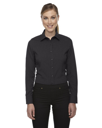 Carbon Heather 78802 North End Sport Blue Central Ave Mélange Performance Shirt | Blankclothing.ca