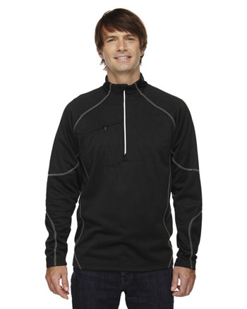 Black 88175 North End Men's Catalyst Performance Fleece Half-Zip | Blankclothing.ca