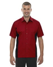 Classic Red 87042T North End Tall Fuse Colourblock Twill Shirt