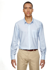 Light Blue 87043 North End Paramount Wrinkle-Resistant Cotton Blend Twill Checkered Shirt