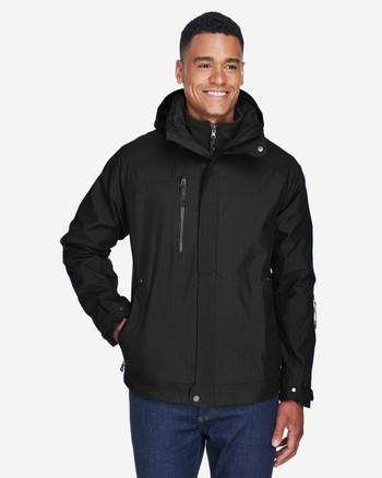 Black/Black, Front - 88178 North End Caprice 3-in-1 Jacket with Soft Shell Liner | BlankClothing.ca