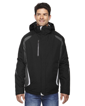 Black 88195 Ash City - North End Height 3-in-1 Jacket with Insulated Liner | Blankclothing.ca