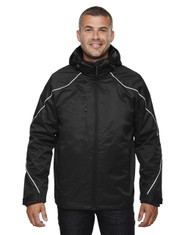 Black 88196 Ash City - North End Angle 3-in-1 Jacket with Bonded Fleece Liner | Blankclothing.ca