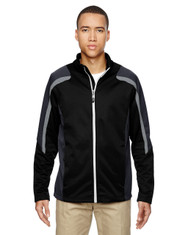 Black 88201 North End Men's Strike Colorblock Fleece Jacket