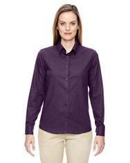 Mulbry Purple 77043 North End Paramount Wrinkle-Resistant Cotton Blend Twill Checkered Shirt