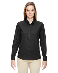 Black 77043 North End Paramount Wrinkle-Resistant Cotton Blend Twill Checkered Shirt
