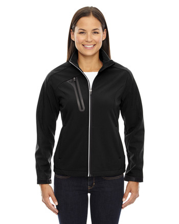 Black 78176 North End Terrain Colourblock Soft Shell with Embossed Print