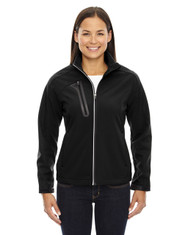 Black 78176 North End Terrain Colourblock Soft Shell with Embossed Print | Blankclothing.ca