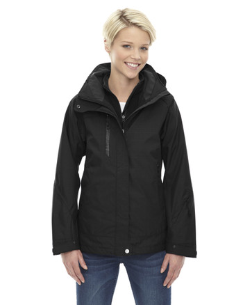 Black 78178 North End Caprice 3-in-1 Jacket with Soft Shell Liner