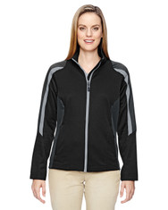 Black 78201 North End Ladies' Strike Colorblock Fleece Jacket