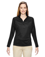 Black 78220 North End Ladies' Excursion Circuit Performance Half-Zip Shirt | Blankclothing.ca