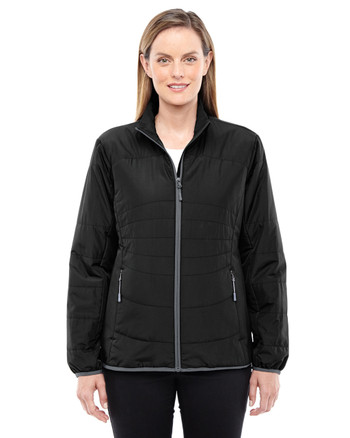Black/Graphite 78231 North End Resolve Interactive Insulated Packable Jacket | Blankclothing.ca