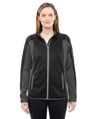 Black/Dark Graphite 78230 North End Motion Interactive ColorBlock Performance Fleece Jacket | Blankclothing.ca
