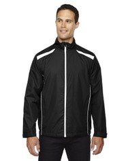 Black 88188 North End Lightweight Recycled Polyester Jacket with Embossed Print