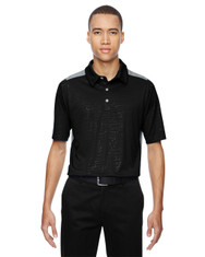 Black 88691 North End Sport Red Reflex UTK Performance Embossed Print Polo