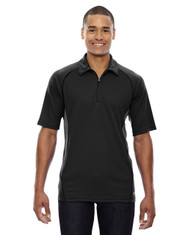 Black 88657 North End Sport Red Serac UTK Performance Zippered Polo Shirt