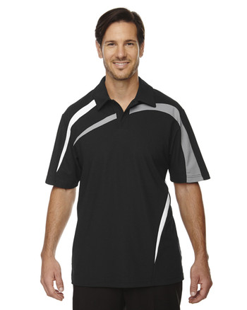 Black 88645 North End Sport Red Impact Performance Polyester Colourblock Polo Shirt