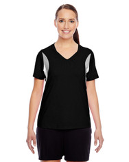 Black TT10W Team 365 Short-Sleeve V-Neck All Sport Jersey
