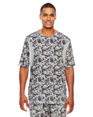 Sport Camo/Sport Silver TT12 Team 365 Short-Sleeve Athletic V-Neck All Sport Camo Jersey