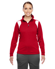 Sport Red/White TT32W Team 365 Elite Performance Quarter-Zip Sweater