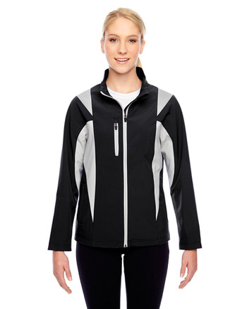 Black/Sport Silver TT82W Team 365 Icon Colourblock Soft Shell Jacket