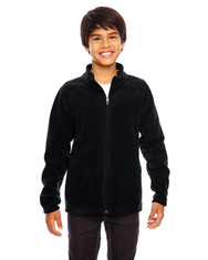 Black TT90Y Team 365 Youth Campus Microfleece Jacket