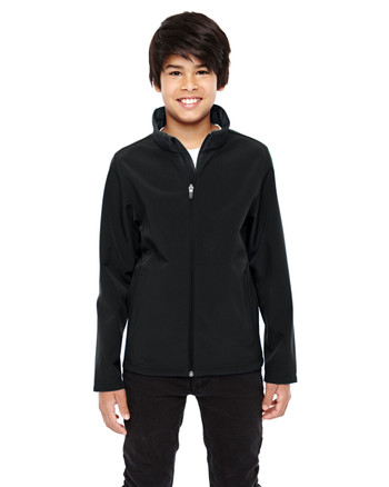 Black TT80Y Team 365 Youth Leader Soft Shell Jacket
