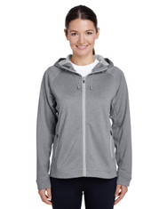 Ath Heather/Sport Silver TT38W Team 365 Excel Mélange Performance Fleece Jacket