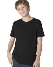 Black 3310 Next Level Boys' Premium Short-Sleeve Crew Tee