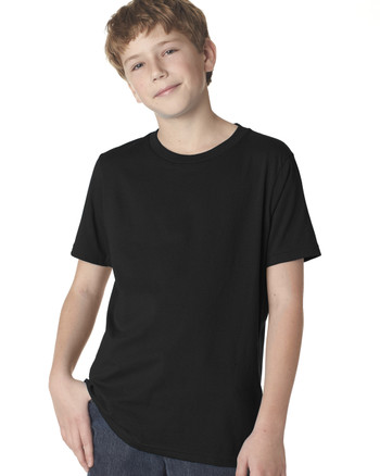 Black 3310 Next Level Boys' Premium Crew Tee | Blankclothing.ca