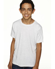 Heather White N6310 Next Level Boys' Tri-Blend Crew Tee