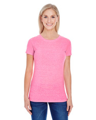 Neon Pink Triblend - 202A Threadfast Ladies' Triblend T-Shirt | BlankClothing.ca