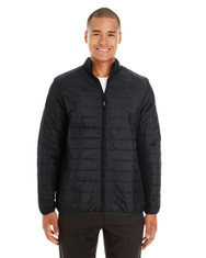 Black - CE700 Ash City - Core 365 Men's Prevail Packable Puffer