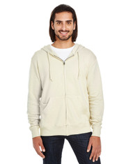 Creme  - 321Z Threadfast Unisex Triblend French Terry Full-Zip