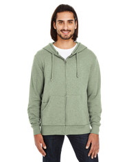 Army Heather - 321Z Threadfast Unisex Triblend French Terry Full-Zip Sweater | Blankclothing.ca