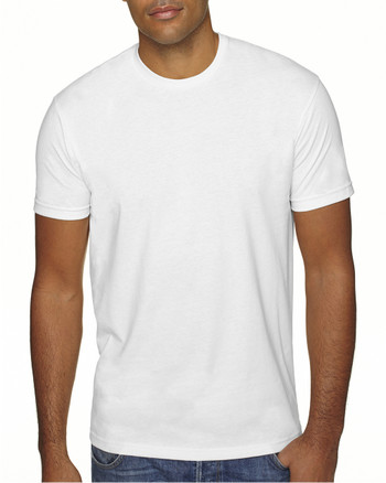 White - 6410 Next Level Men's Premium Fitted Sueded Crew | Blankclothing.ca