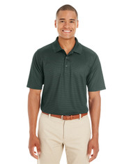 Forest / Carbon - CE102 Ash City - Core 365 Men's Express Microstripe Performance Piqué Polo