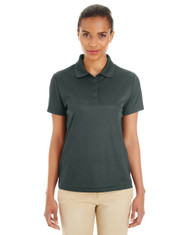Forest / Carbon - CE102W Ash City - Core 365 Ladies' Express Microstripe Performance Piqué Polo | Blankclothing.ca