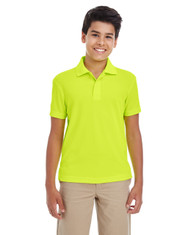 Safety Yellow - 88181Y Ash City - Core 365 Youth Origin Performance Pique Polo