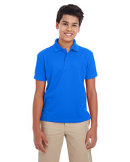 True Royal - 88181Y Ash City - Core 365 Youth Origin Performance Pique Polo | Blankclothing.ca