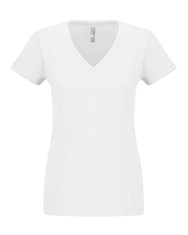 White - N6480 Next Level Ladies Sueded V-Neck Tee