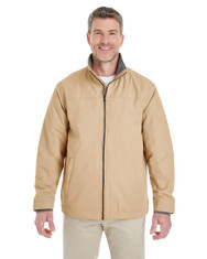 Khaki - DG794 Devon & Jones Men's Hartford All-Season Club Jacket