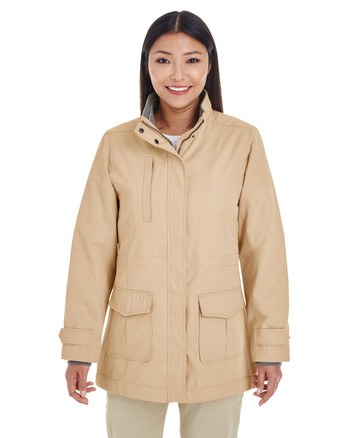 Khaki - DG794W Devon & Jones Ladies' Hartford All-Season Hip-Length Club Jacket