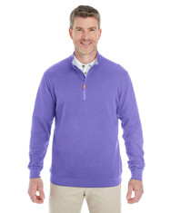 Grape / Graphite Heather - DG479 Devon & Jones Men's DRYTEC20™ Performance Quarter-Zip Sweater