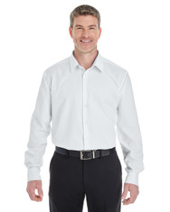 White - DG532 Devon & Jones Men's Crown Collection™ Royal Dobby Shirt