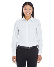 White - DG532W Devon & Jones Ladies' Crown Collection™ Royal Dobby Shirt