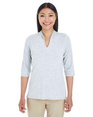 Grey Heather - DP188W Devon & Jones Ladies' Perfect Fit™ Tailored Open Neckline Top