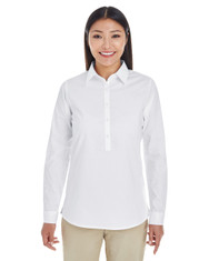 White - DP610W Devon & Jones Ladies' Perfect Fit™ Half-Placket Tunic Top